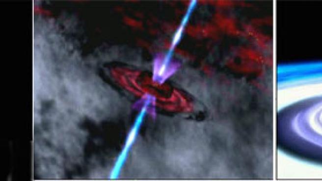 Algunas de las imágenes de agujeros negros obtenidas por el satéite Suzaku (NASA)