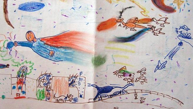 Uno de los 2.000 dibujos realizados por niños de entre 6 y 12 años