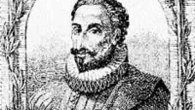 Miguel de Cervantes Saavedra, en un grabado de la época.