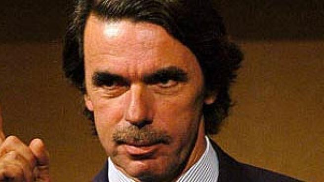 El ex presidente español José María Aznar en una foto de archivo.