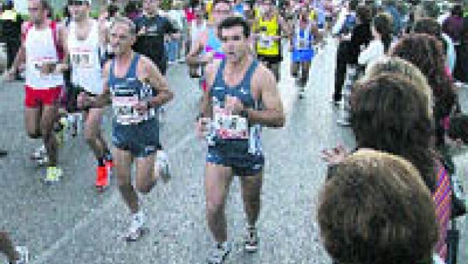 Abdelhakim Elfelhi fue el vencedor ayer de la vigésima cuarta edición de la Media Maratón Ciudad de Granada (Torres).