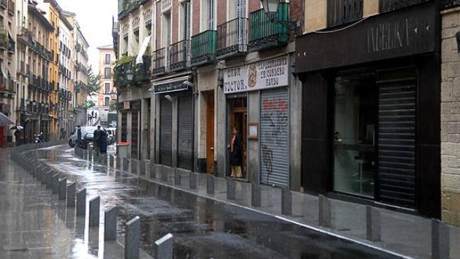 En la nueva Cava Baja las aceras son más anchas (Ayuntamiento de Madrid)