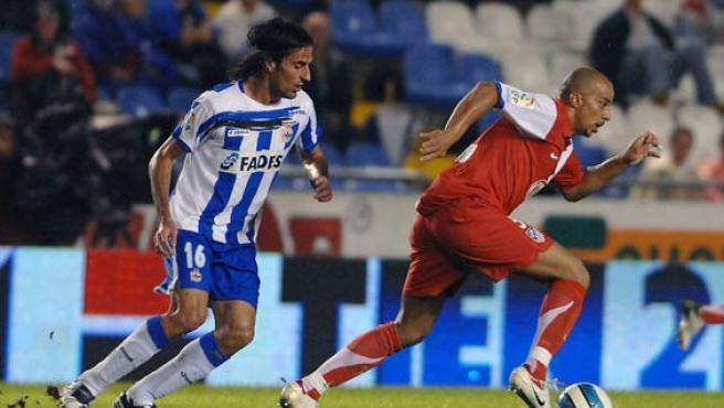 El jugador del Atlético de Madrid, Peter Luccin. (Efe)