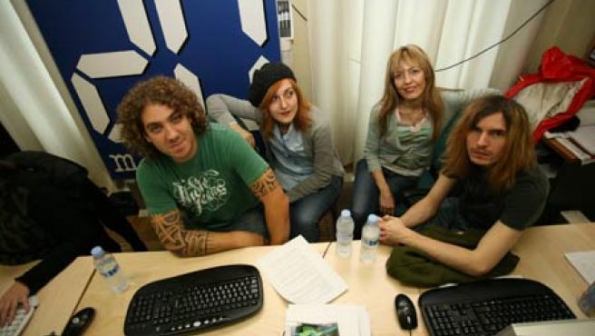 Los cuatro miembros de Dover, en la redacción de 20minutos.es