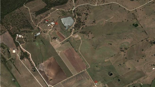 El rancho de Bush en Google Maps.