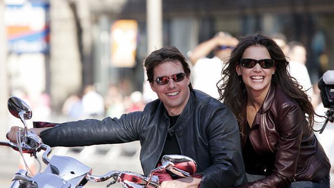 Tom Cruise y Katie Holmes (Reuters).