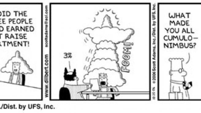 Tira de Dilbert. (Scott Adams )