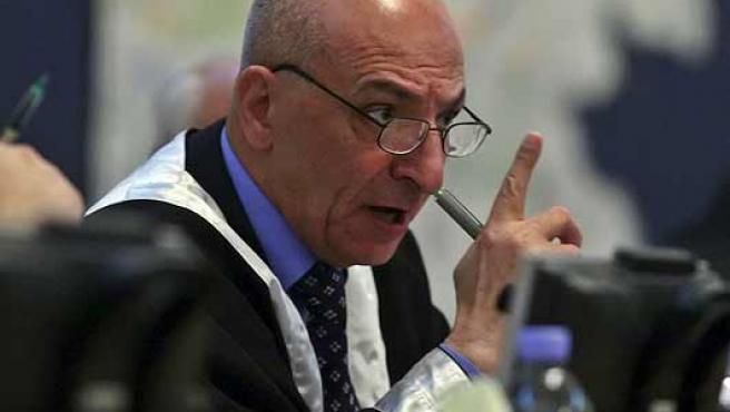 Raouf Abdul Rahman, el juez que ha leído la sentencia a Sadam Husein (Scott Nelson / EFE).