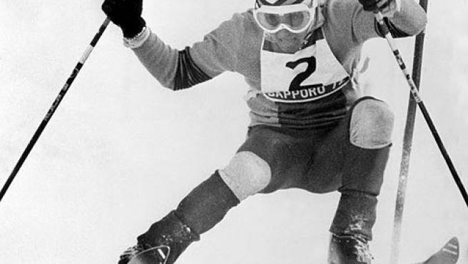 Paquito Fernández Ochoa, durante su gesta en Sapporo en 1972. (Efe)