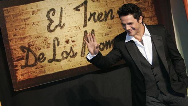 Alejandro Sanz en la presentación de su disco.(Jorge París)