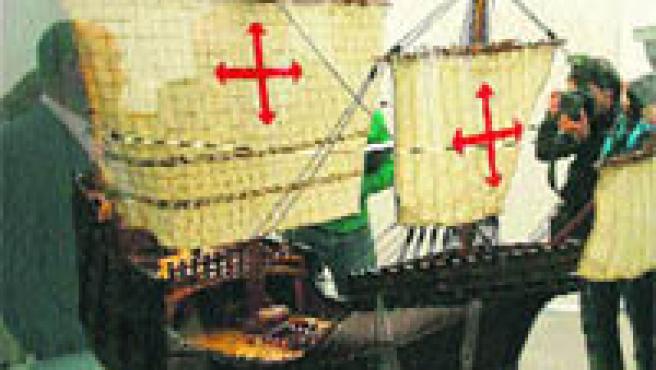 Reproducción de uno de los navíos con los que viajó el almirante(Torres).
