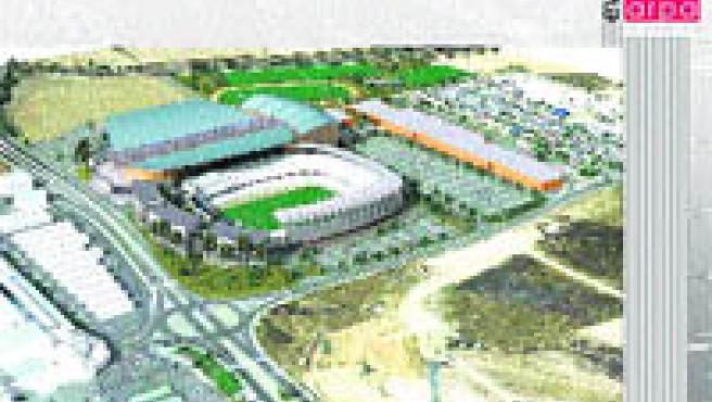 Diseño del Valladolid Arena planteado por el Real Valladolid.
