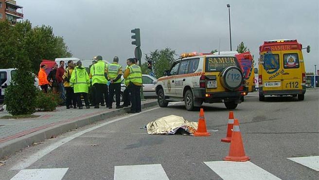 La mujer, de 31 años, murió en el acto (Ayuntamiento de Madrid)
