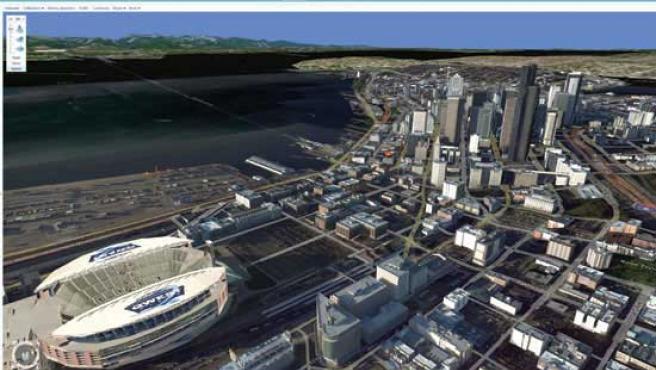 Seatlle desde el Virtual Earth 3D de Microsoft. (News)