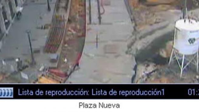 Imagen de la Plaza Nueva capturada por la webcam del Ayuntamiento.