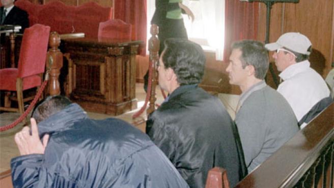 Los cuatro acusados del crimen de Juan Holgado, en una foto archivo