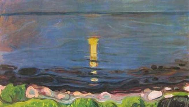 La obra que será devuelta se llama 'Paisaje Marítimo con luna'