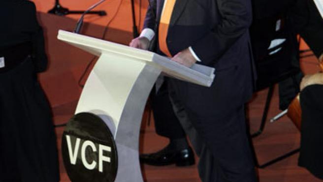 El presidente del Valencia, durante la presentación del nuevo Mestalla. (EFE)