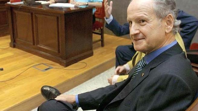 Atutxa, en el banquillo de los acusados del Tribunal Superior de Justicia del País Vasco. (Archivo)
