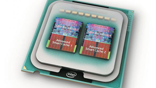 Este es el primer procesador de cuatro núcleos.