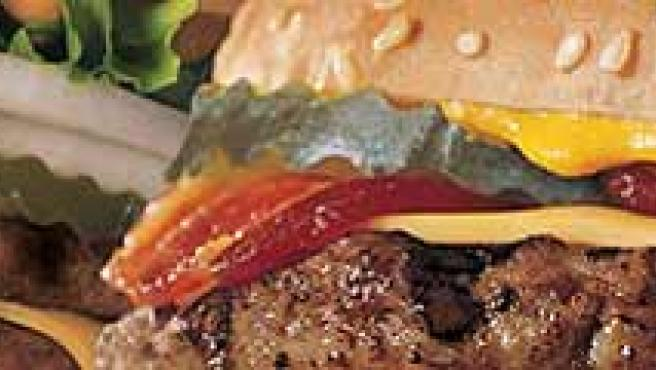 Éstas son las hamburguesas XXL. (Burger King)