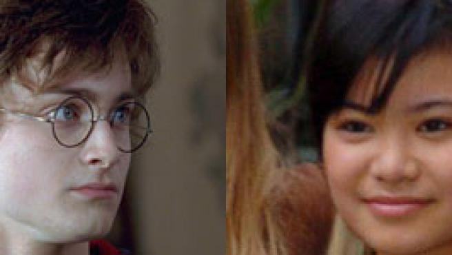 Daniel Radcliffe y Katie Leung, Harry Potter y Cho Chang en la ficción.