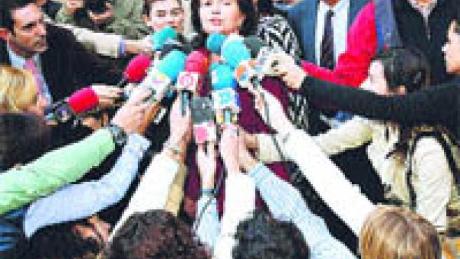 Alicia Hornos, madre de Rocío Wanninkhof, dijo ayer que espera que ahora se sepa la verdad (Rafael Díaz / EFE).