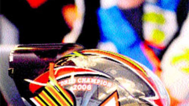 Álvaro Bautista, se encuentra en Jerez (Cádiz) preparando su nueva moto.(Efe)
