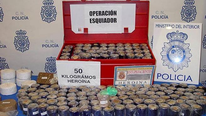 La Policía se incautó de 50 kilos de heroína dentro de la Operación Esquiador (EFE)