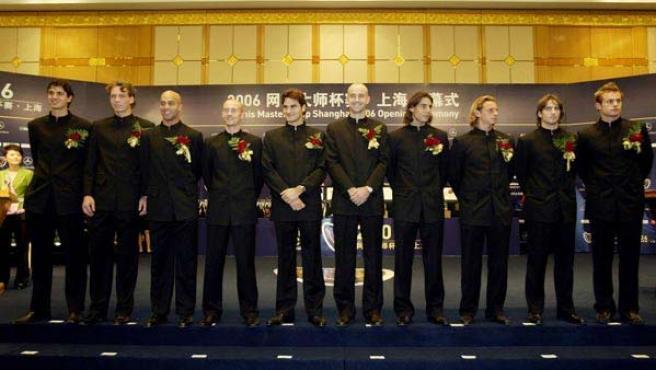 Ceremonia de la Copa Masters de Shanghai. (AP Photo)