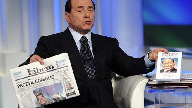 Berlusconi dice no será candidato a Jefe Gobierno, según prensa. (Efe)