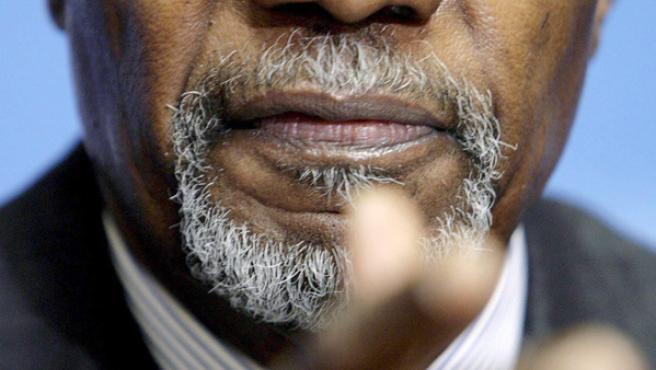 El secretario general de la ONU, Kofi Annan.