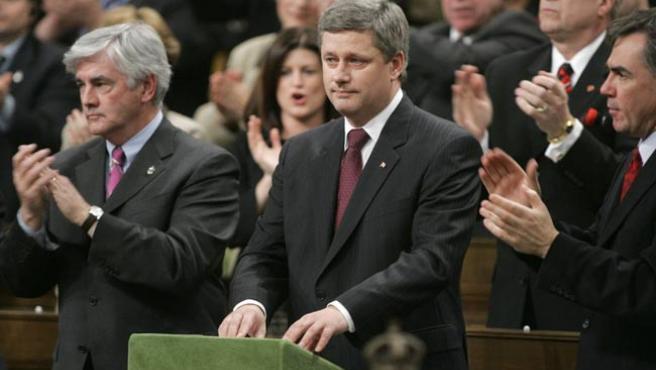 El primer ministro canadiense, Stephen Harper, tras presentar la moción que reconoce a Quebec como nación. (REUTERS)