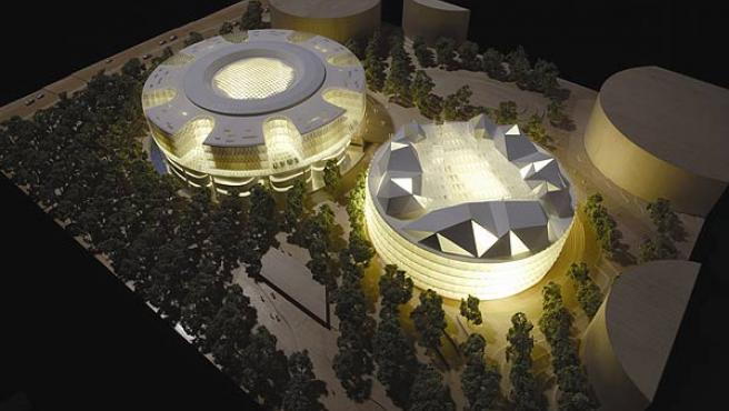 Vista de la futura Ciudad de la Justicia (Comunidad de Madrid)