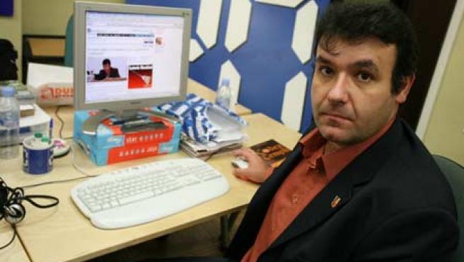 El presidente de Templespaña, Fernando Arroyo, en la redacción central de 20minutos.es