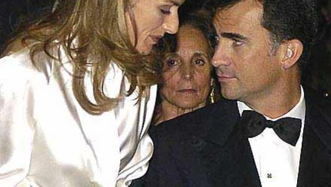 Los Príncipes de Asturias, poco después del anuncio de su segundo embarazo