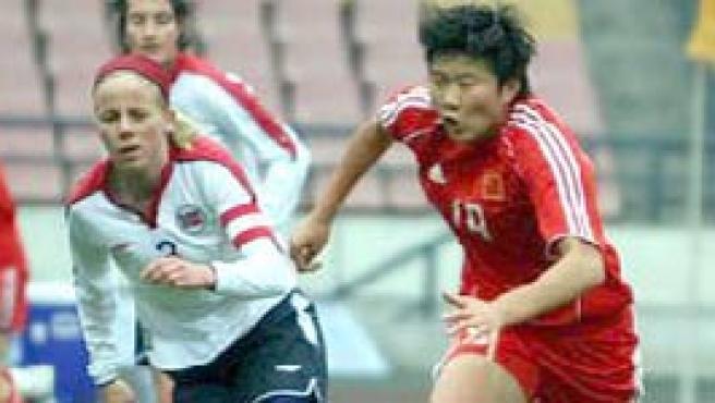 Ma Xiaoxu, con la selección china.