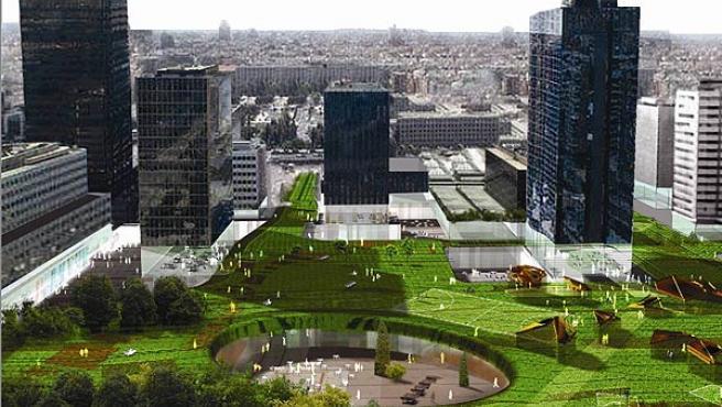 Vista de Azca según uno de los proyectos ganadores (Ayuntamiento de Madrid)