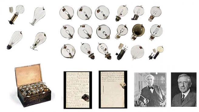 Las bombillas de Edison (fotos: Christie's)