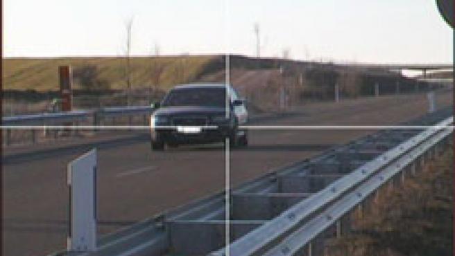 Fotografía tomada por el radar, cuando el vehículo circulaba a 260 km/h