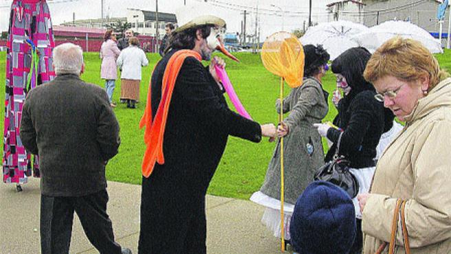 Grupos teatrales amenizaron la inauguración del parque.M. Fuentes