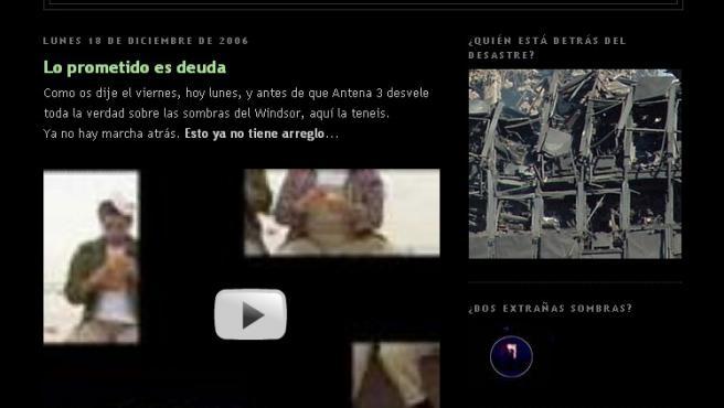 Portada del blog creado por Antena 3.