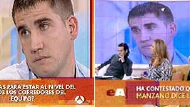 Jesús Manzano, durante la prueba del polígrafo de Antena 3.