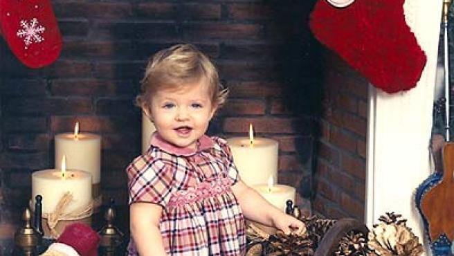 Foto de la felicitación navideña de los Príncipes de Asturias, en la que aparece la infanta Leonor. (EFE)
