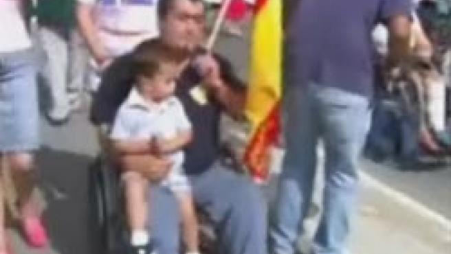 Joaquín Merino, en una de las marchas de la AVT (Foto: Noticias Cuatro)