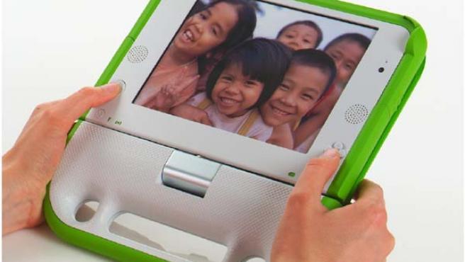 Ejemplo del ordenador XO, del proyecto 'Un portátil para cada niño'.