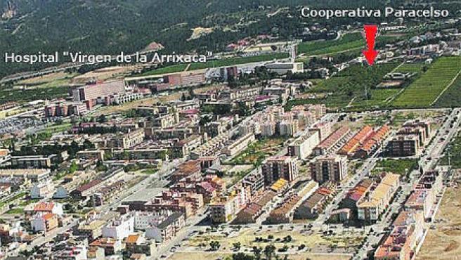 En la imagen aparece dónde se construirá la cooperativa.
