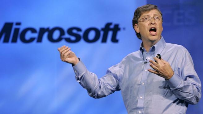 Bill Gates durante su conferencia en el CES 2007.