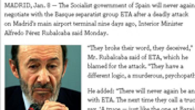 Rubalcaba en The New York Times