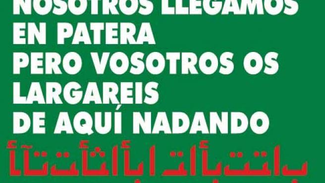 Esta pegatina apareció en diversos lugares de Salamanca. (Democracia Nacional)